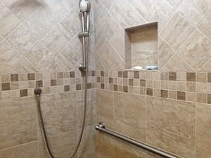 Remodeled Bathroom Install Tile Shower Boyne
